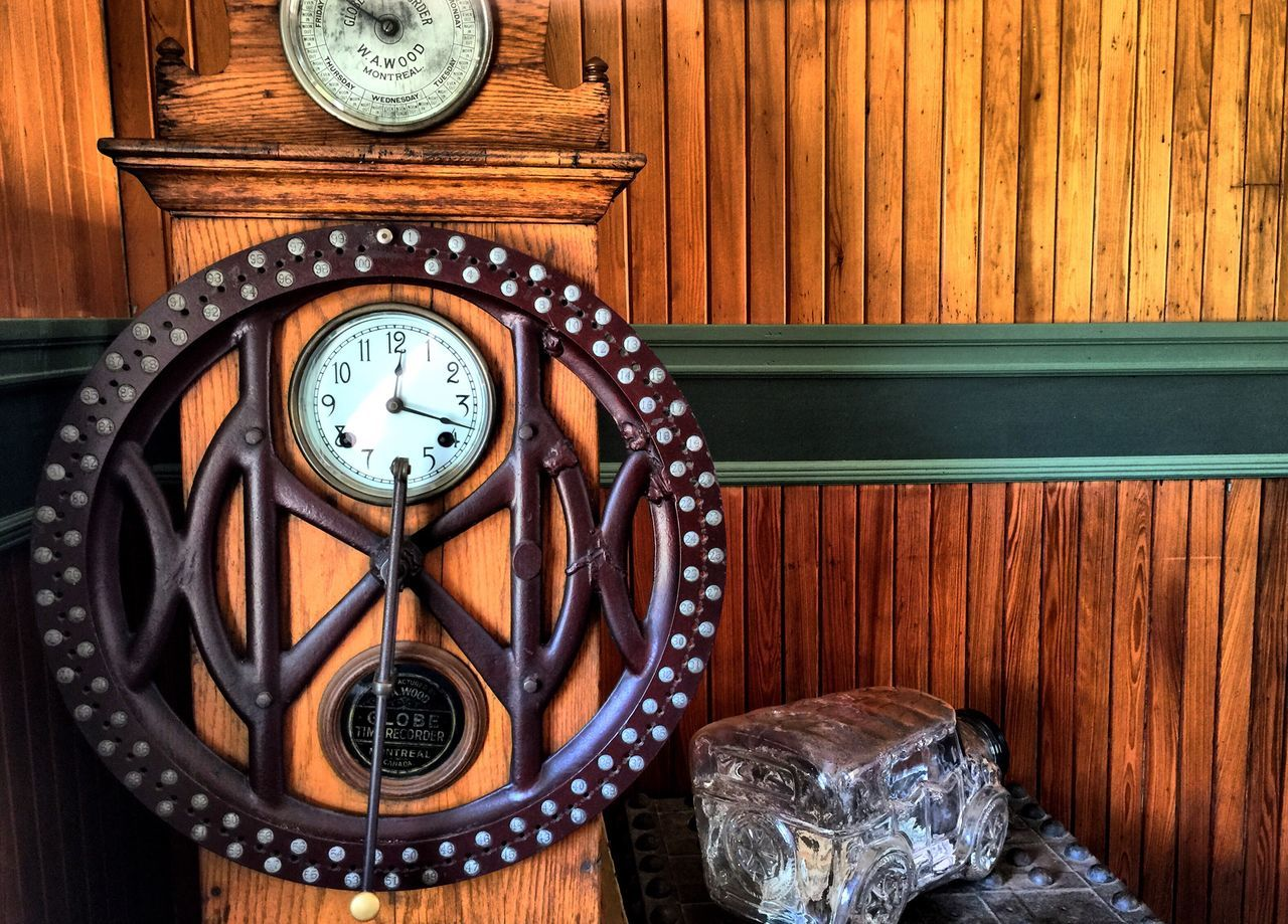 Old Clock at Railway Village in Boothbay Taking Photos Carol Sharkey Photography Maine
