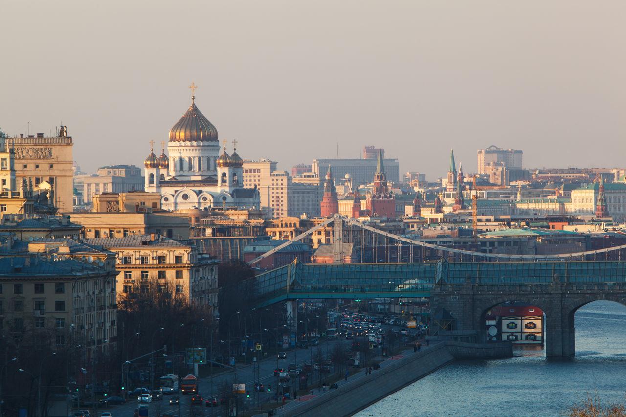 Beautiful stock photos of moscow, Architecture, Bridge, Building Exterior, Built Structure