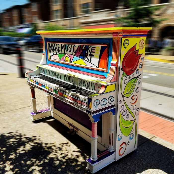 Street Multi Colored Blurred Motion Outdoors Day No People Piano Colorful Street Art Make Music Make Art