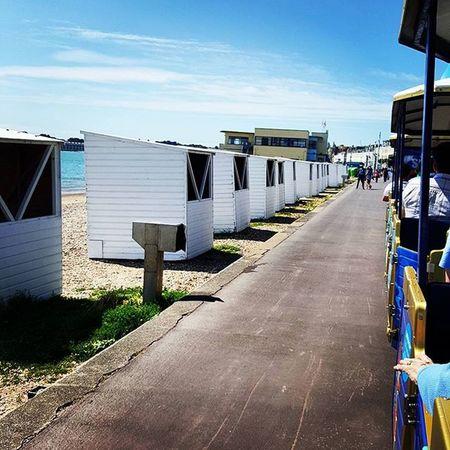 Sealife train ride and beach huts Sealife beachfront Weymouth Beachhuts Summerdays