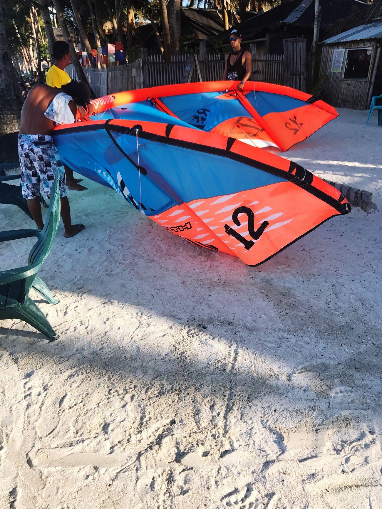 It is time to take flight Kitesurfing Beach Outdoors Flight