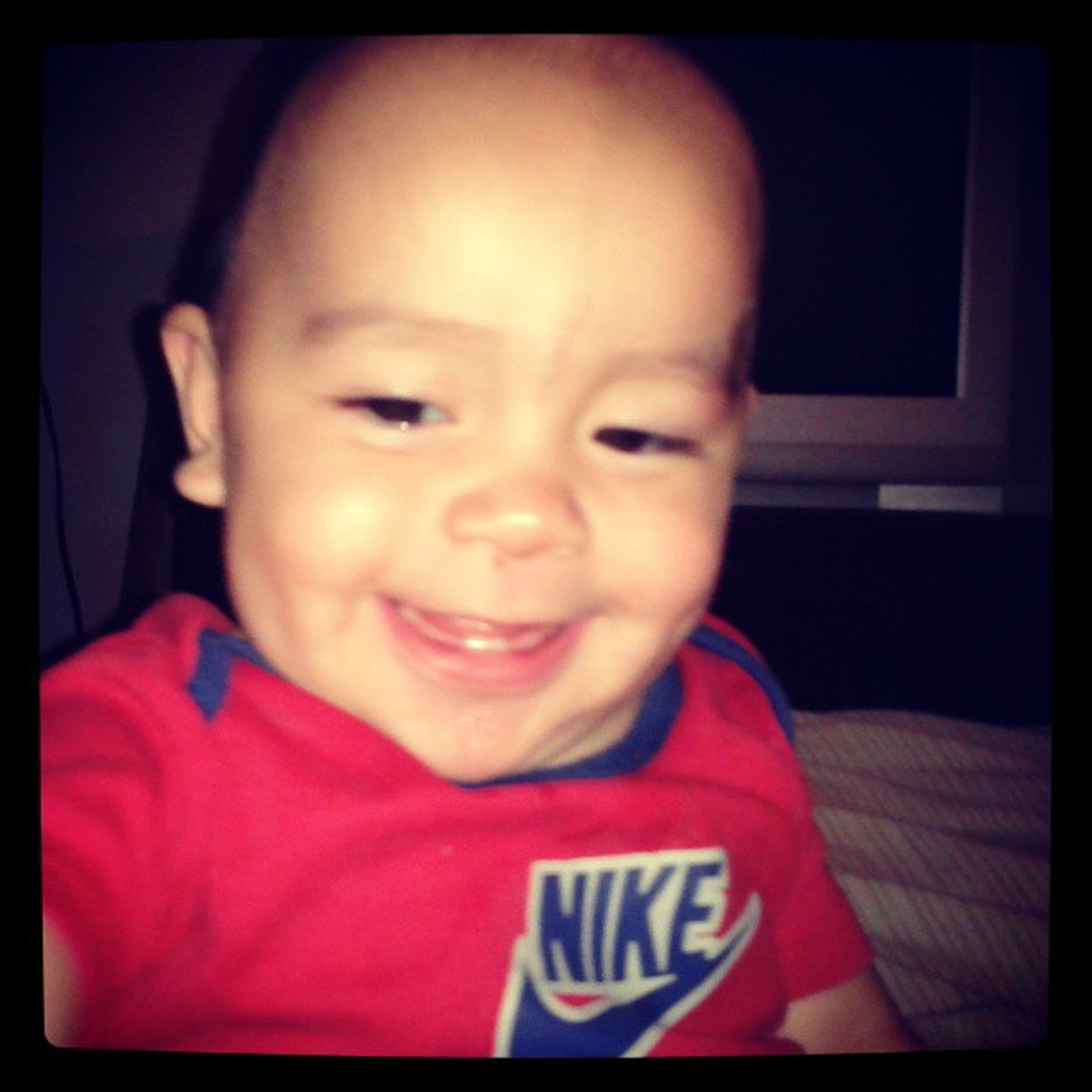 Mybaby Smile Cute Instaky sky baby tbt bw instababy mypic pic instapic funnyface awesome aquinelose
