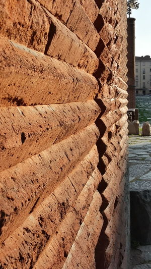 Dramatic Angles Roman Ruins Porta Palatina Turin Ancient History Archeology Full Frame Famous Place Architectural Feature Close-up Built Structure No People Path Old Path Sunlight My City Outdoors