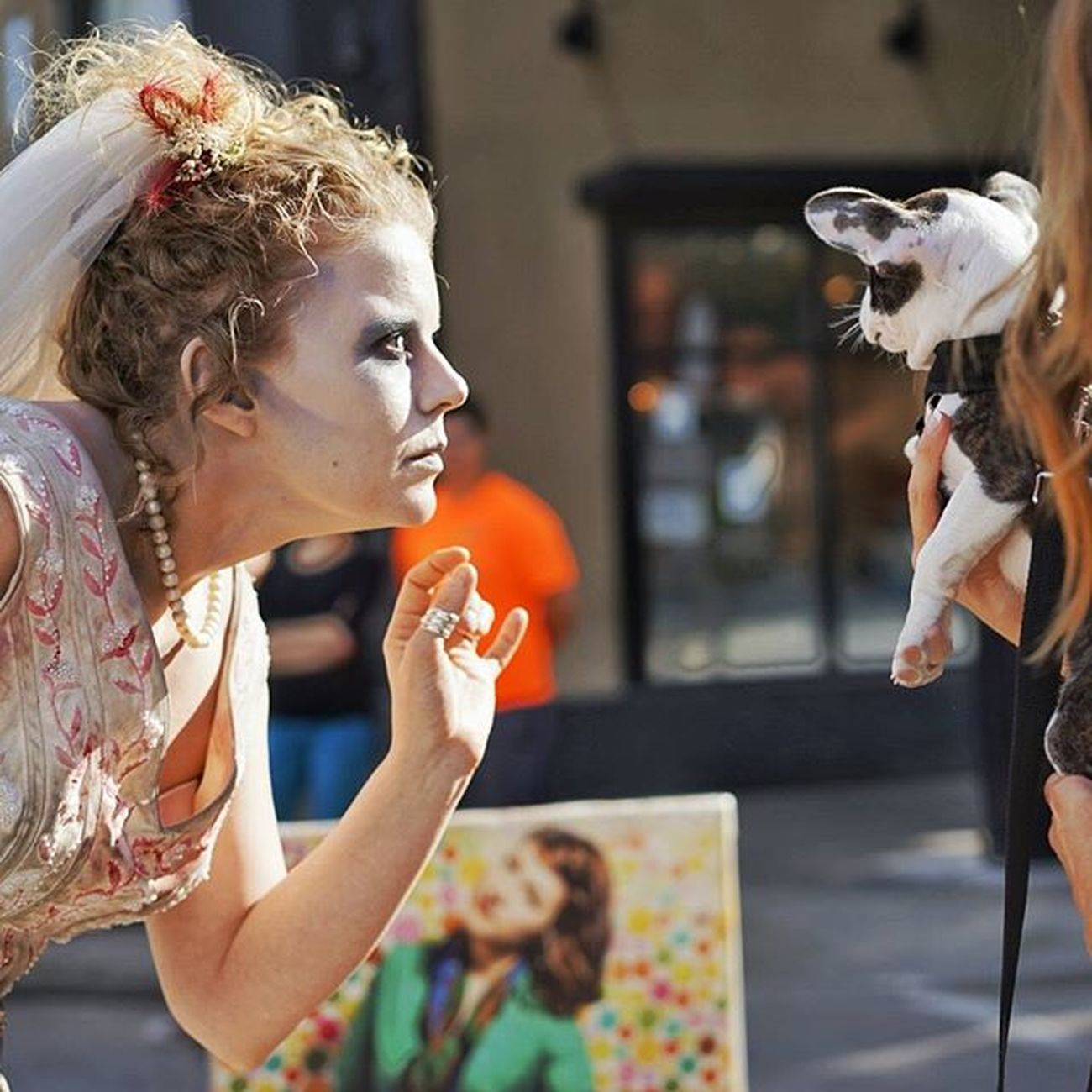 Zombie bride meets a little doggy @ Yxefringe