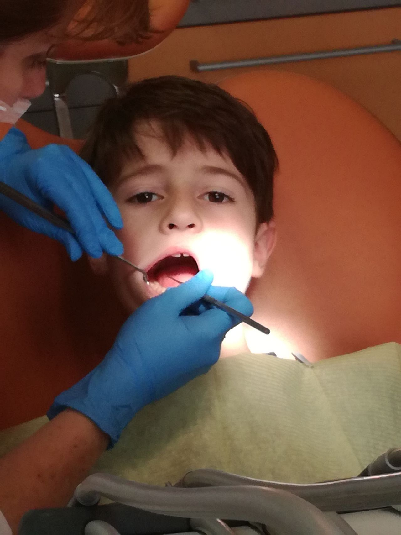 Healthcare And Medicine Child Patient Human Body Part Human Teeth Dentist Dental Health Adult People Injecting Two People Doctor  Son Boys Childhood Occupation Medical Exam Surgical Glove Nurse