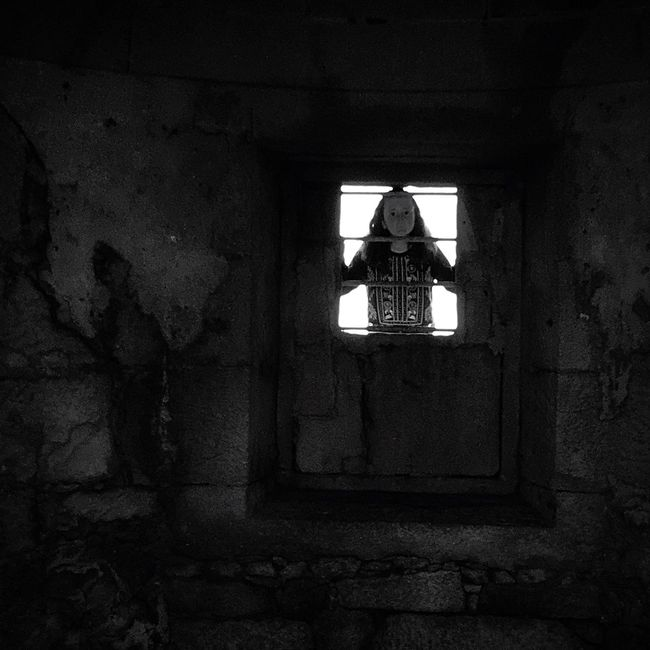 People And Places Window Architecture Built Structure Damaged Obsolete Deterioration Day Weathered Sky Window Frame Bad Condition Place Of Worship No People Black And White Dark