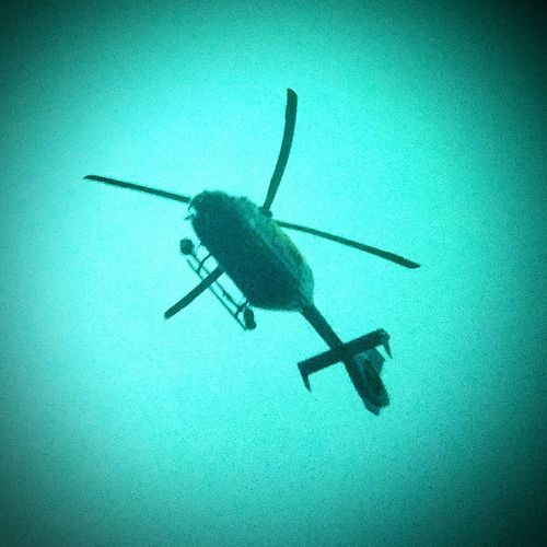 Helicopter Police Helicopter Blue Wave
