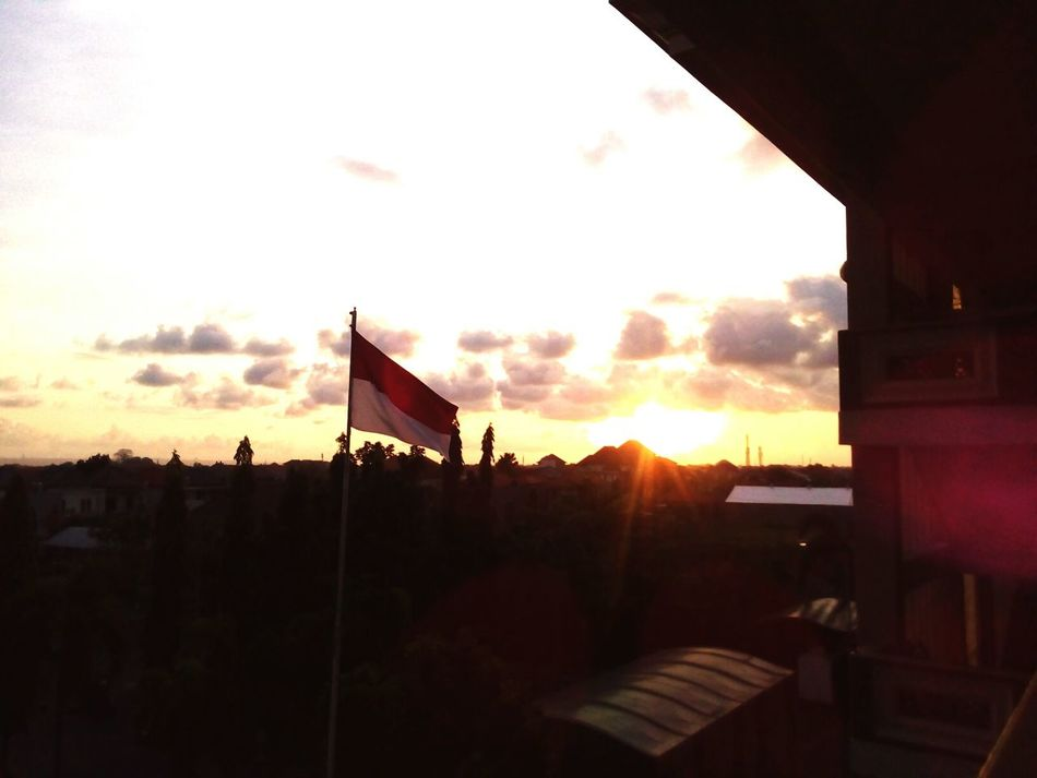 Sunset Bali Campus Indonesia Flag First Eyeem Photo