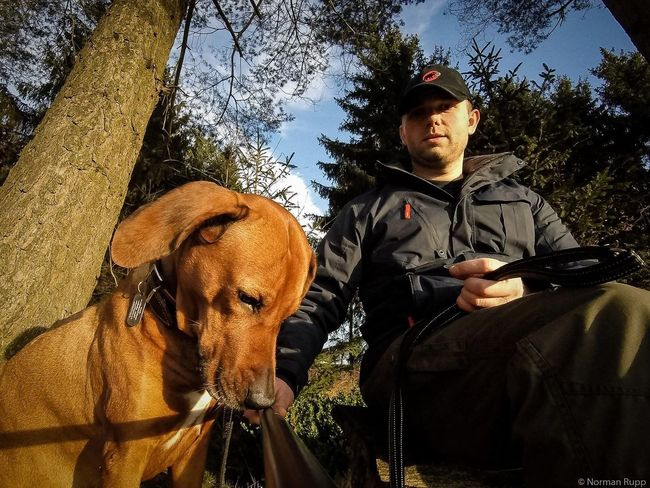 Selfies with my New Gopro and my Dog Luca. Nice Weather today