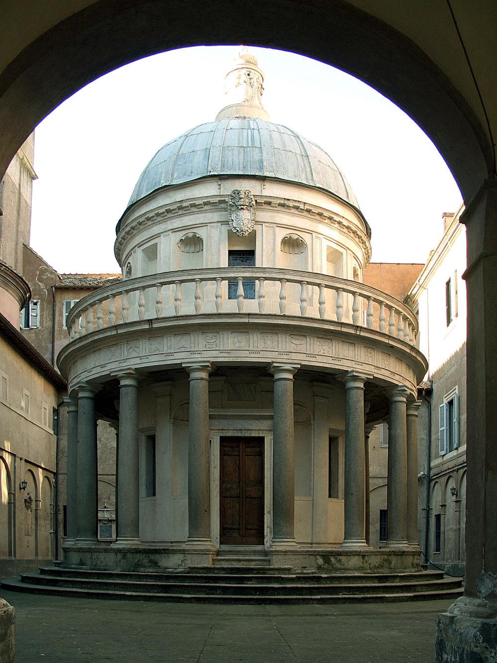 Arch Architecture Bramante Dome Famous Place History Roma Rome San Pietro In Montorio Tempietto