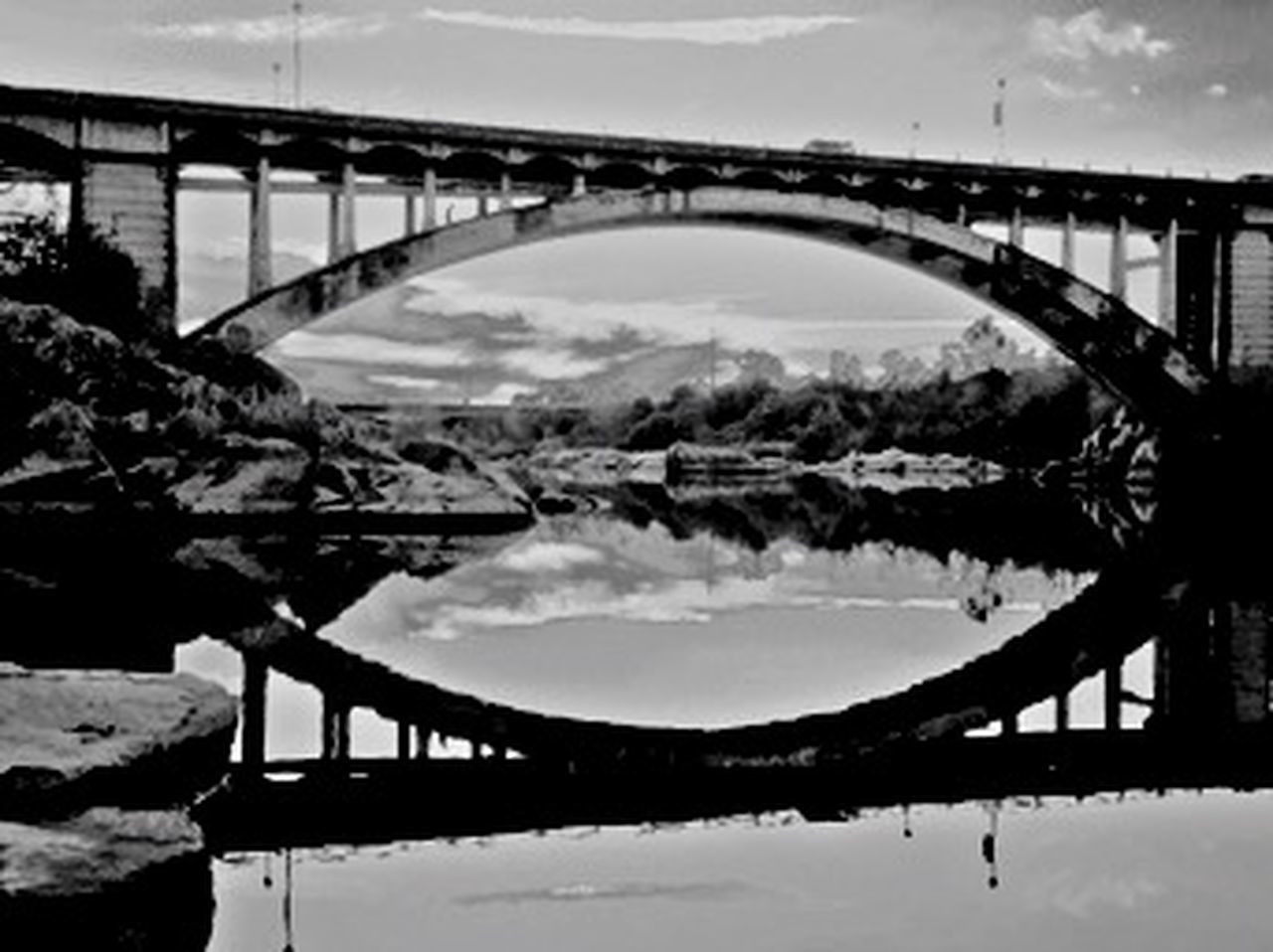 bridge - man made structure, connection, transportation, river, outdoors, day, no people, built structure, water, sky, architecture