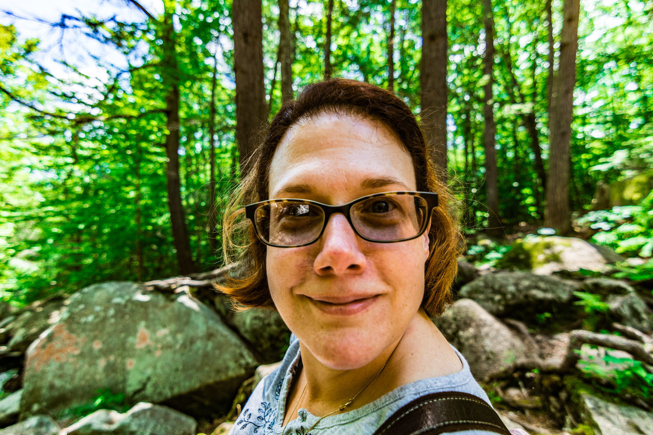 Adult Beautiful Woman Close-up Day Eyeglasses  Forest Front View Glendale Falls Happiness Headshot Looking At Camera Mid Adult Mid Adult Women Middlefield, MA Nature One Person One Woman Only Only Women Outdoors Portrait Real People Smiling Standing Tree Women