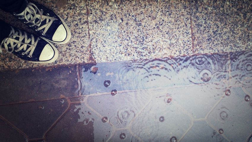 Rain Raindrops Converse Relaxing Am I the only one who loves to watch raindrops hitting the ground?
