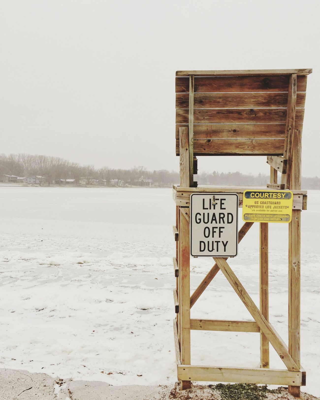 Text Information Sign Nature Water Communication Cold Temperature Warning Sign Outdoors No People Snow Day Winter Beauty In Nature Sky Sea Signboard Board Beach Lifeguard  Frozen Lake Minnesotaphotographer