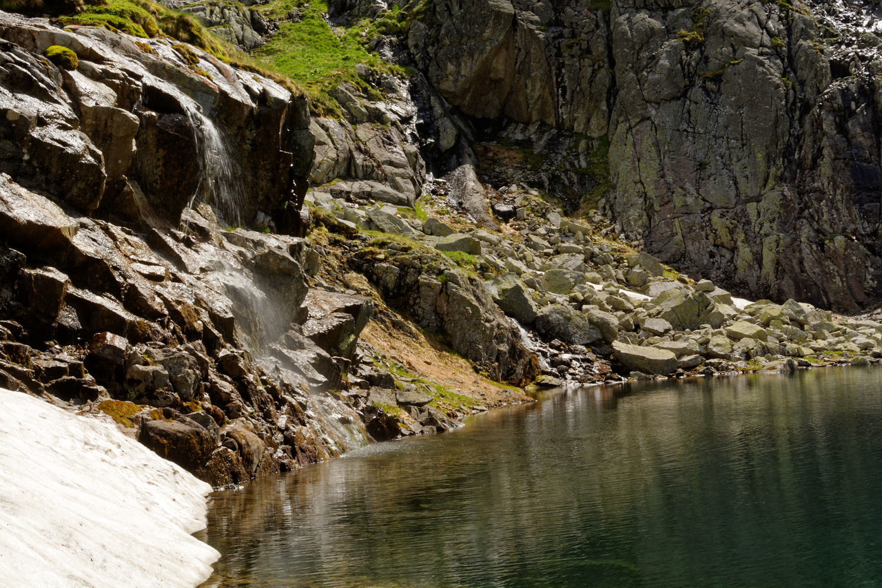 Adventure Beauty In Nature Day Landscape Mountain Nature No People Outdoors Polish Tatra National Park Rock - Object Scenics Spring In The Mountains Stream - Flowing Water Tatry Poland Water Waterfall Zmarzly Staw Zmarzly Staw Tatra Poland
