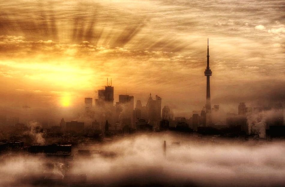 Capture The Moment Canada Fog Foggy Morning Toreno Self Portrait Around The World CN Tower