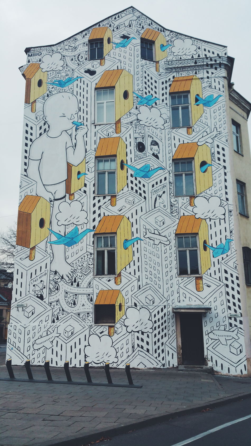 Vilnius City Vilnius Street Art Lithuania Wall Art Wall Painting Yellow Samsung Galaxy Note 4
