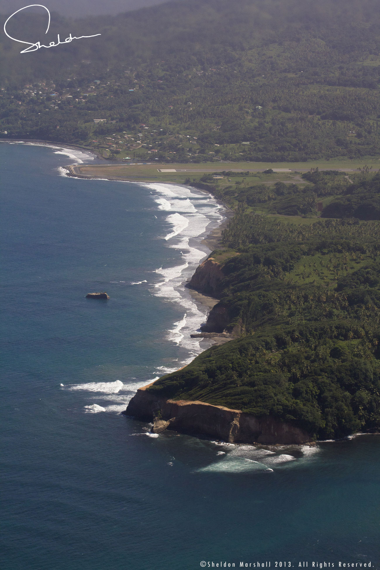 Approaching for landing... Dominica. NEXTshotPhotos Aerial Photography Travel Eye4photography