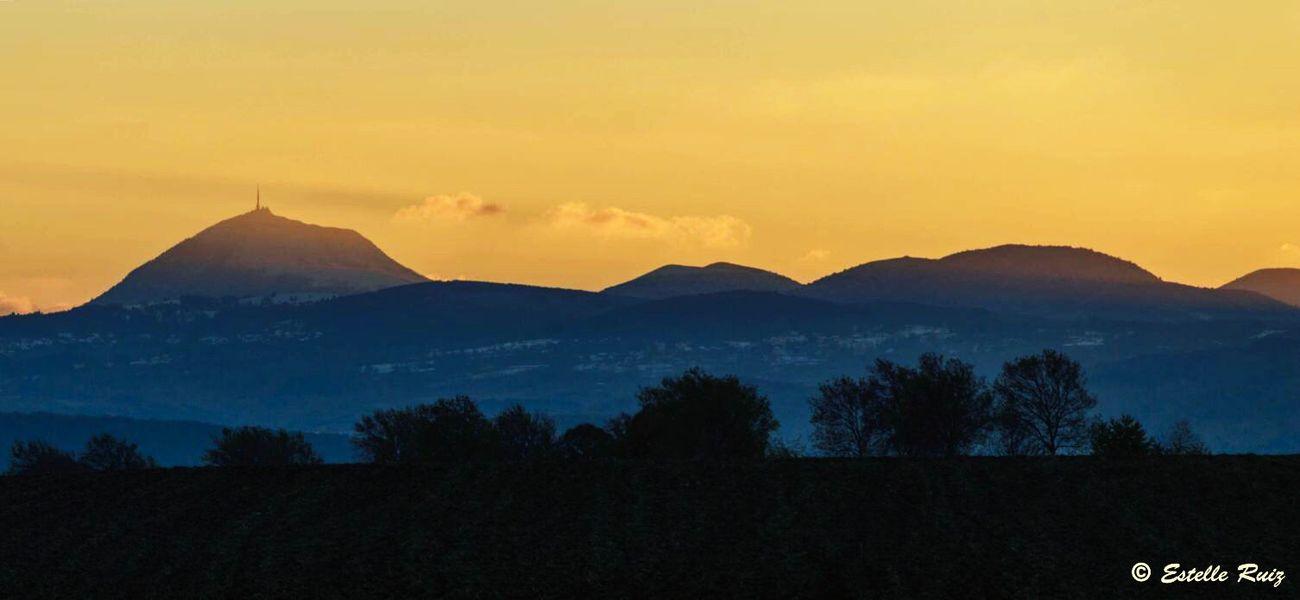 Mountain No People Nature Beauty In Nature Landscape Volcano Puy De Dôme Auvergne AuvergneRhoneAlpes France Sunset Chainedespuys Puy-de-Dome Sky
