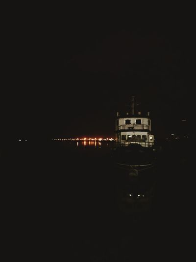 boat Reflection No People Night Water Outdoors Sky First Eyeem Photo