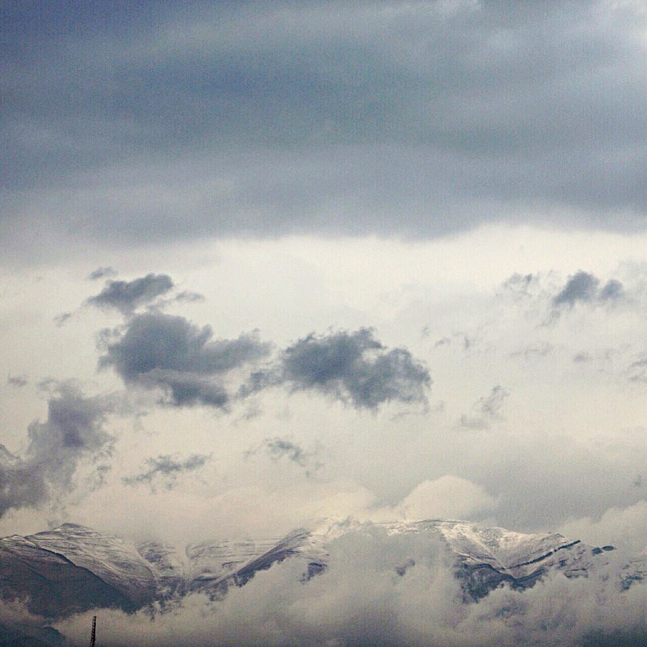Clouds And Mountains Sky And Clouds First Snow ♥ Sky_collection Canon 70d shemiran mountains👉🏾😙