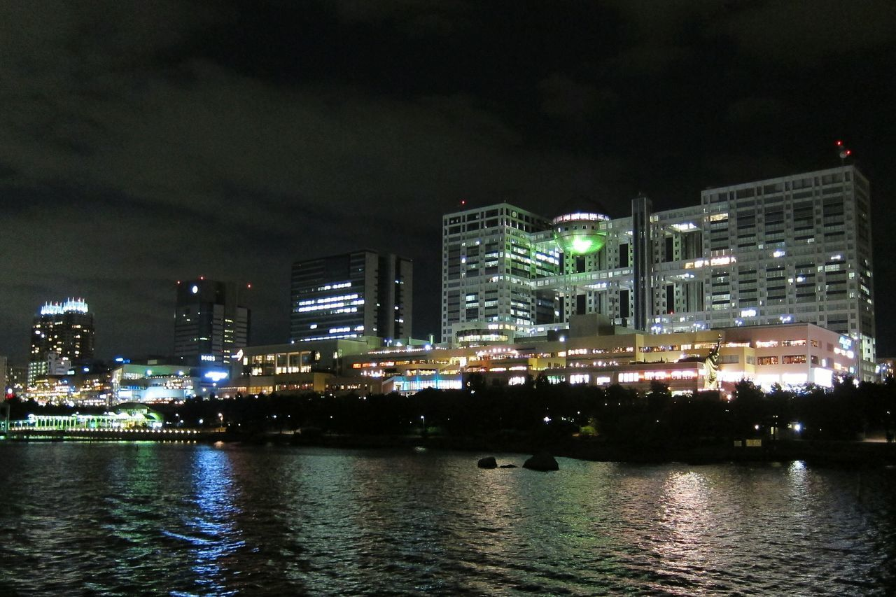 お台場の夜景 Nightphotography Night Lights On The Ship Buildings Resort Bay Area Tvstation