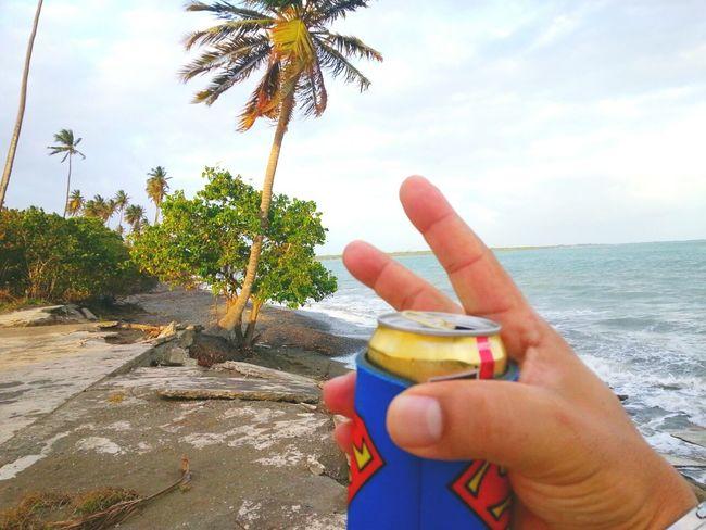 Hello World Drinking Beer Relaxing Disfrutando De La Vida Playa De Las Salinas Peace ✌ Life Is A Beach La Vida En La Playa Me Two Fingers