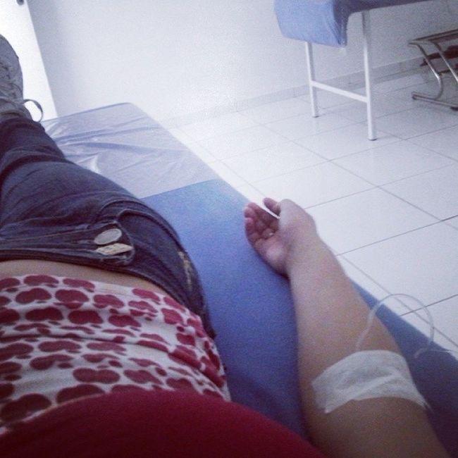 Hoje ta dificil Soro PressãoBaixa Tontura Enjoou hospital ????