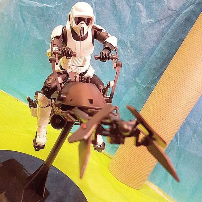 For starters... Starwars Actionfigures BANDAI SHfiguarts Starwarstoys Toys Toyphotography Scouttrooper Speederbike Actionfigure Actionfigurephotography