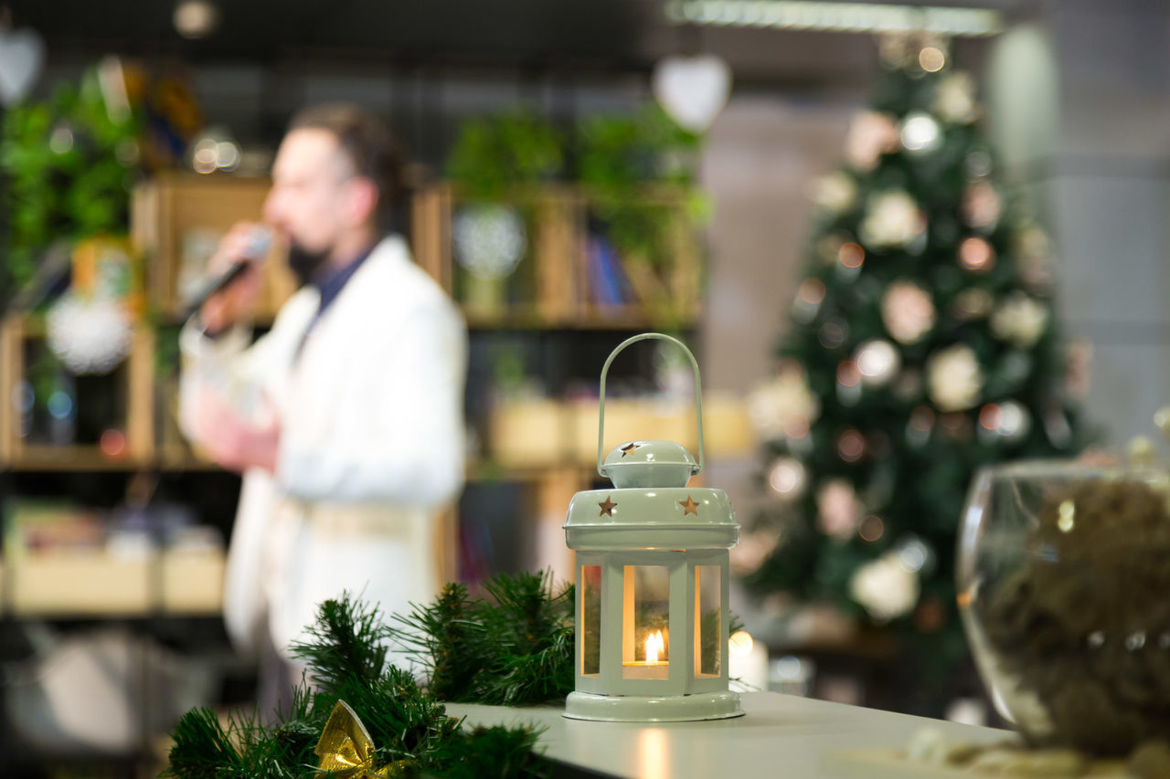 Atmospheric Mood Beautiful Candle Candle Light Candles Christmas Decoration Christmas Decorations Microphone Oratory Presentation Speaker