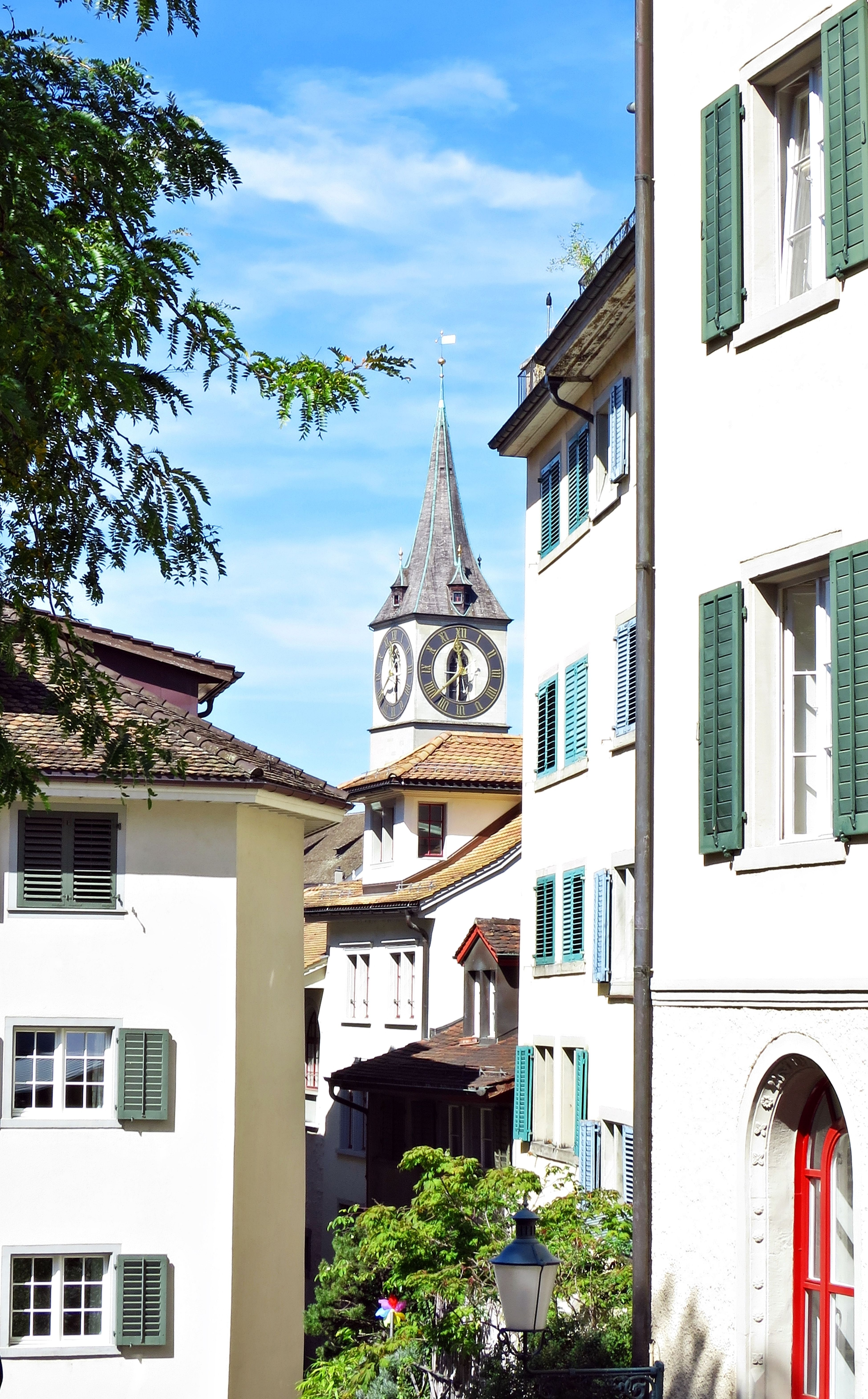 View to St.Peter church Architecture Building City City Life Outdoors St.Peter Kirche Switzerland Zürich