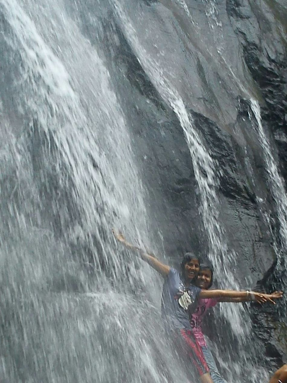 Relaxing Enjoying Life Hanging Out Waterfall Best Friends Cheese!
