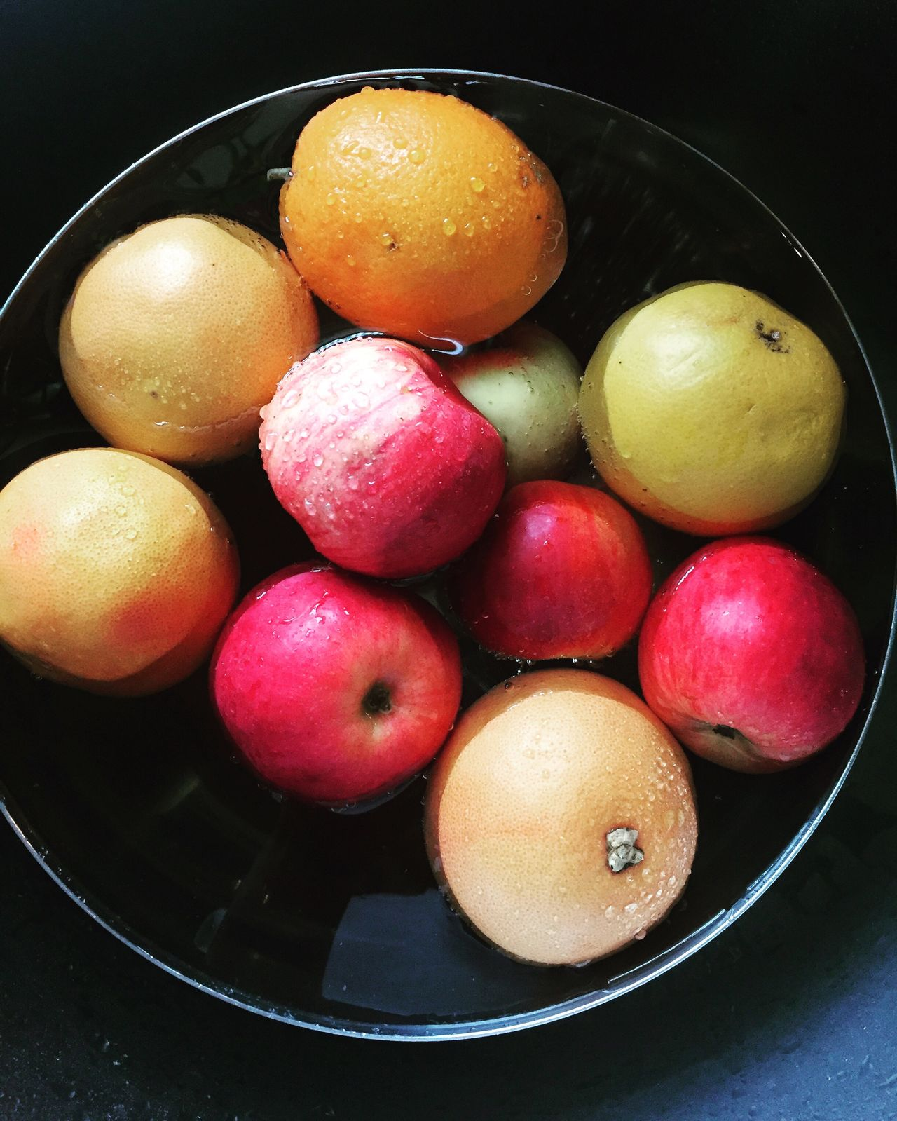 Fruit Fresh Fresh Fruit Fruit Bowl Food Preparation Honest Food Plantbased Raw Food Food Photography Apple Grapefruit View From Above Washing Produce Fresh Produce Healthy Food