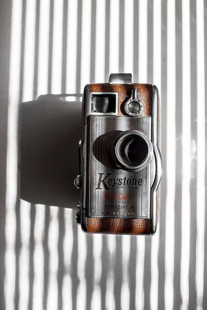 Camera - Photographic Equipment Photography Themes Retro Styled Old-fashioned Photographing Technology No People Film Camera Old Cameras Keystone Bel Air Keystone Camera Super8 Indoors  Pattern Close-up Day