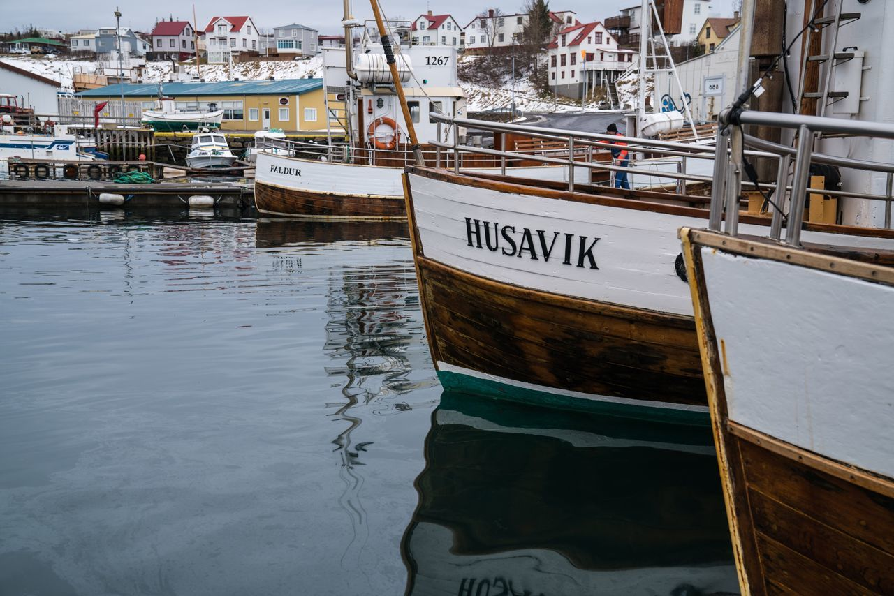 At Bay. Nautical Vessel Moored Transportation Mode Of Transport Text Harbor Water Travel Destinations Outdoors Sea Close-up Harbour Iceland Trip Iceland Iceland_collection Iceland Memories Husavik Traveling Boat Boats Roadtrip Travel Photography Transportation Cropped Bay