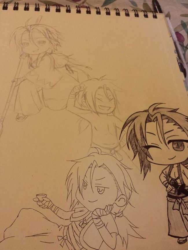 Yep it's a Sano cover ???? Chibi Sanosukeharada Sketchbook Bishie Pencil Drawing Art Art, Drawing, Creativity Hakuouki Pencil Drawing