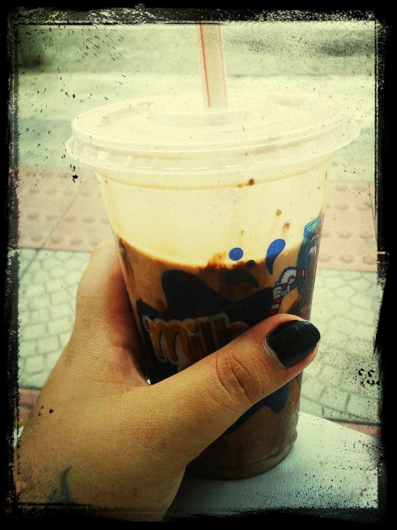 Saindo da academia, o calor pede... Milkshake♥ Delicious ♡
