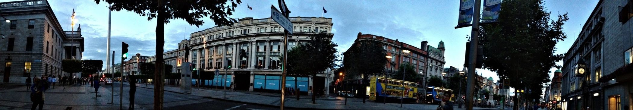 Panoramic Of O'Connell Street, Dublin at dusk. [02.09.13] Detailsofmylife