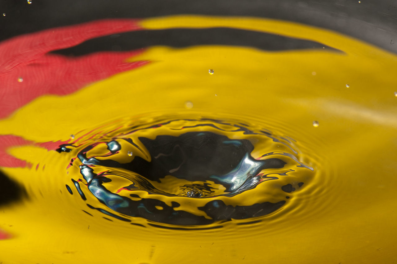 Rippling colorful water surface