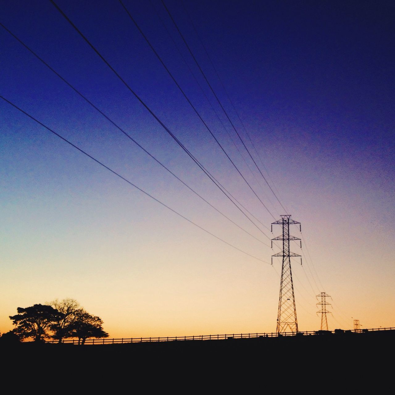 Silhouette Power Line  Sunset Electricity Pylon Power Supply Blue Clear Sky Fuel And Power Generation Landscape Connection Electricity  Cable Outdoors