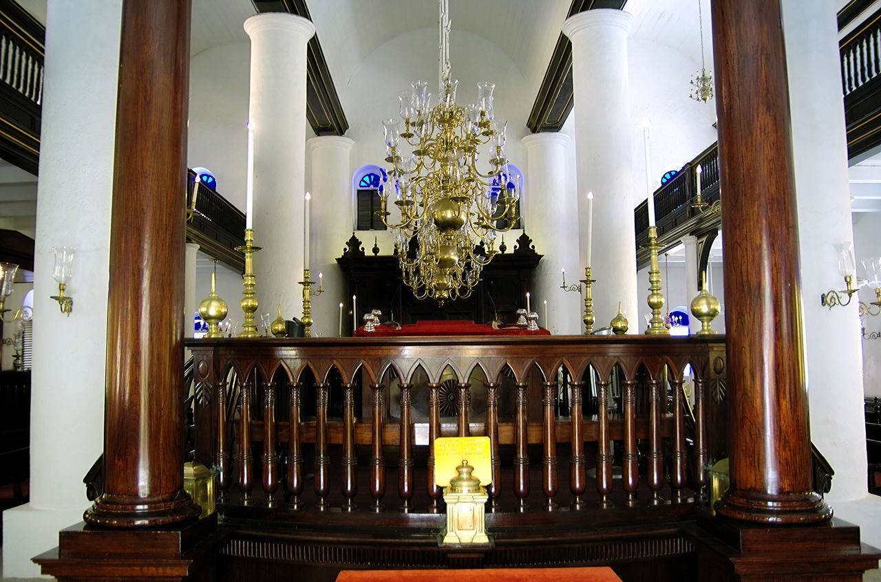 Inside Mikve Israel Emanuel Synagogue in Curaçao, the oldest in the western hemisphere Architectural Column Architecture Chandelier Day Illuminated Indoors  Mikve Israel Emanuel No People Synagogue In Curaçao Synagogue Interior