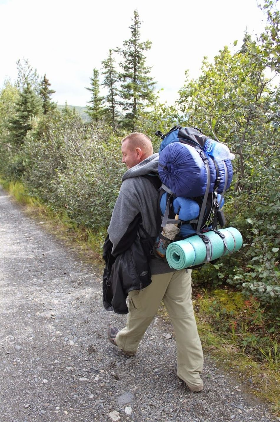 Headed For The Trail Adult Adventure Adventures Alaska Anchorage Anchorage Alaska Back Pack Adventure Back Pack Gear Back Packer Back Packing Camper Camping Day Hiking Hiking Trail Mature Adult Men Nature Oakstrails Photos Outdoors Tent Camper Trail Hiking Tree Walking Wet