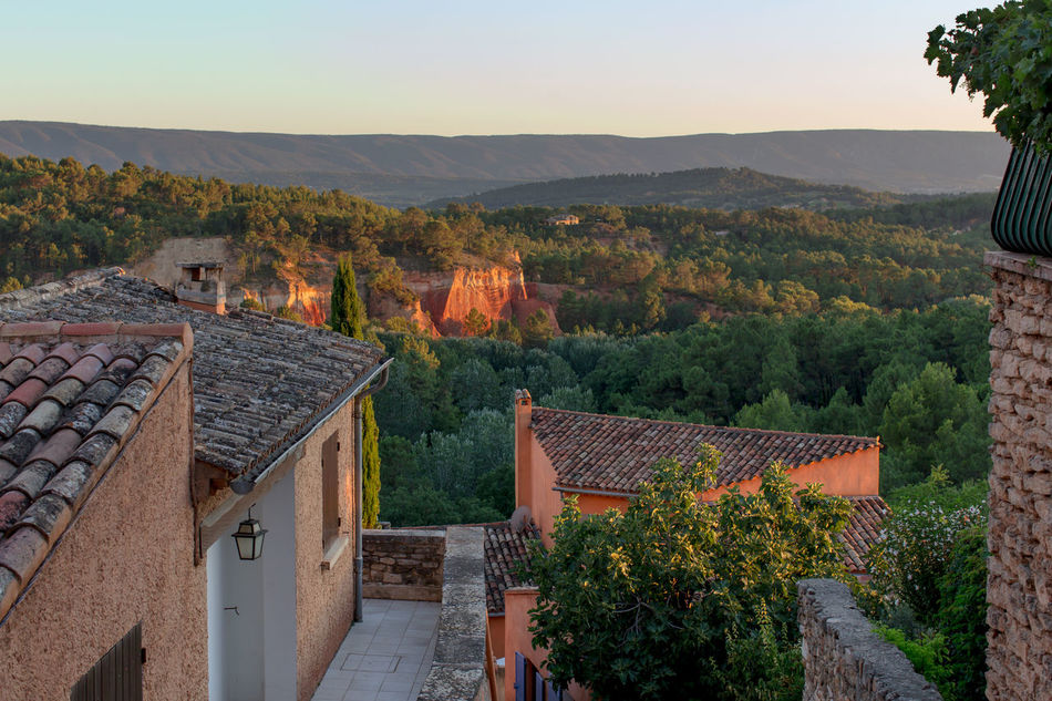 Sunset over Roussillon, France Architecture Beauty In Nature Building Exterior Built Structure Colour Of Life Day Growth Hill House Landscape Mountain Mountain Range Nature Ochre Outdoors Roof Scenics Sunset Tourism Tranquility Travel Destination Tree Tree Village