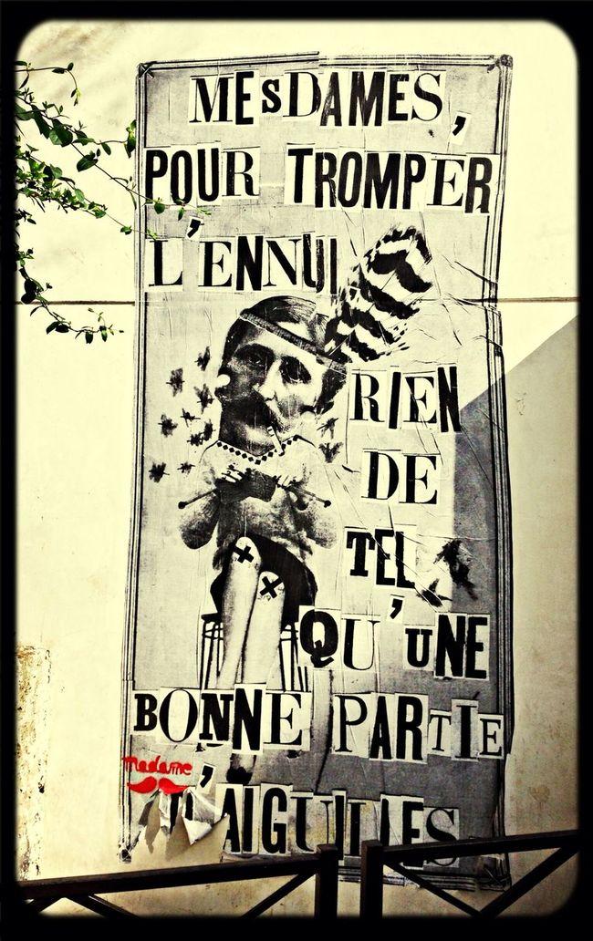 Street art    Paris 18ème    Mesdames