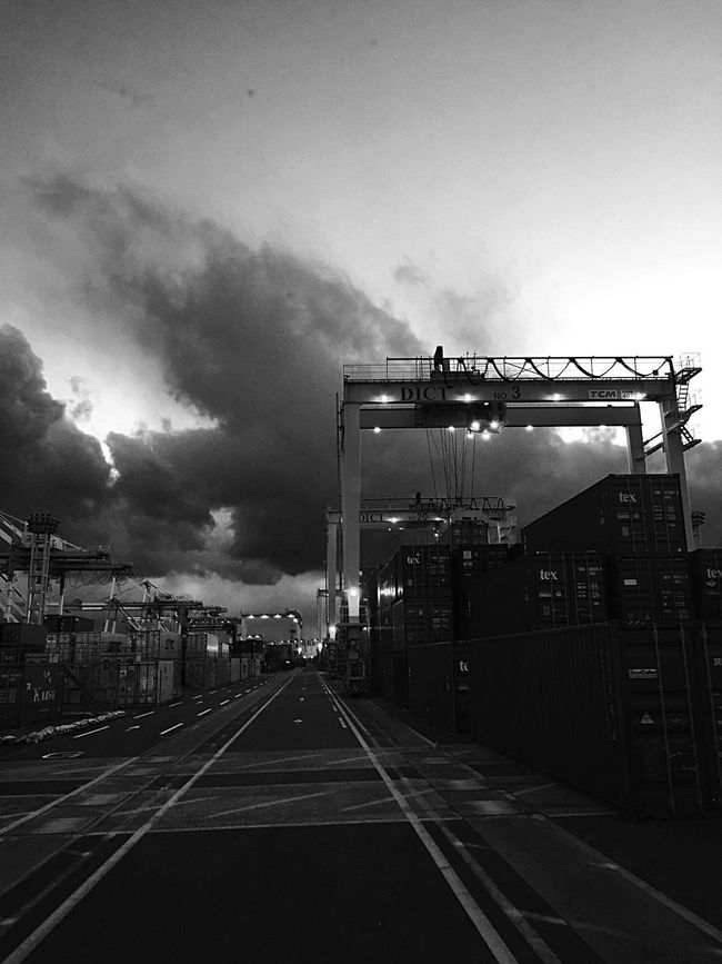 EyeEm EyeEm Best Shots Blackandwhite Monochrome EyeEmBestPics Black And White EyeEm Gallery Container Career Crane Truck Eye Em Around The World Hanging Out