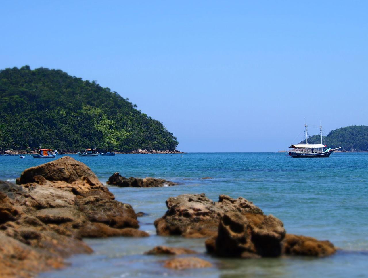 Beautiful stock photos of brazil, Horizontal Image, beach, beauty in nature, blue