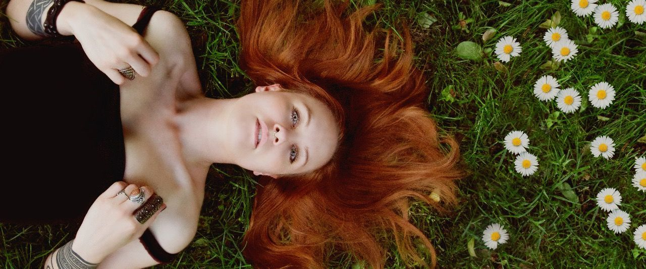 """Mirella """"cinnamon.fairytales"""" Human Body Part One Person People Only Women One Woman Only Adults Only Adult Young Adult Summer Grass High Angle View Lying Down Human Hand One Young Woman Only Women Young Women Beauty Directly Above Flower Relaxation Nature Art Magic Fairy Girl"""