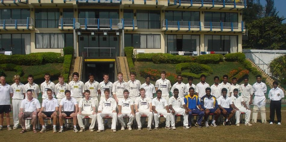 Sri Lanka under 21 s and Durham CCC Academy one up at the Premedassa Stadium, Columbo, Sri Lanka in 2009 Men Building Exterior Large Group Of People Real People Celebration Parade Outdoors Uniform Horizontal Architecture Day People Military Adult Person (null)Cricketers
