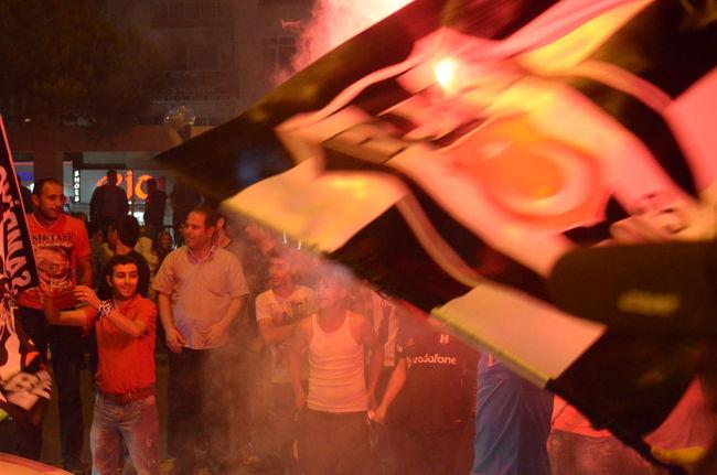 43 Golden Moments Besiktas Beşiktaş ❤ Beşiktaşk BJK Celebrating Celebration Champion Champions Close-up Crowd Enjoyment Fans Football Football Fans Football Fever Fun Illuminated Large Group Of People Leisure Activity Lifestyles Night Torch Torches Torchlight