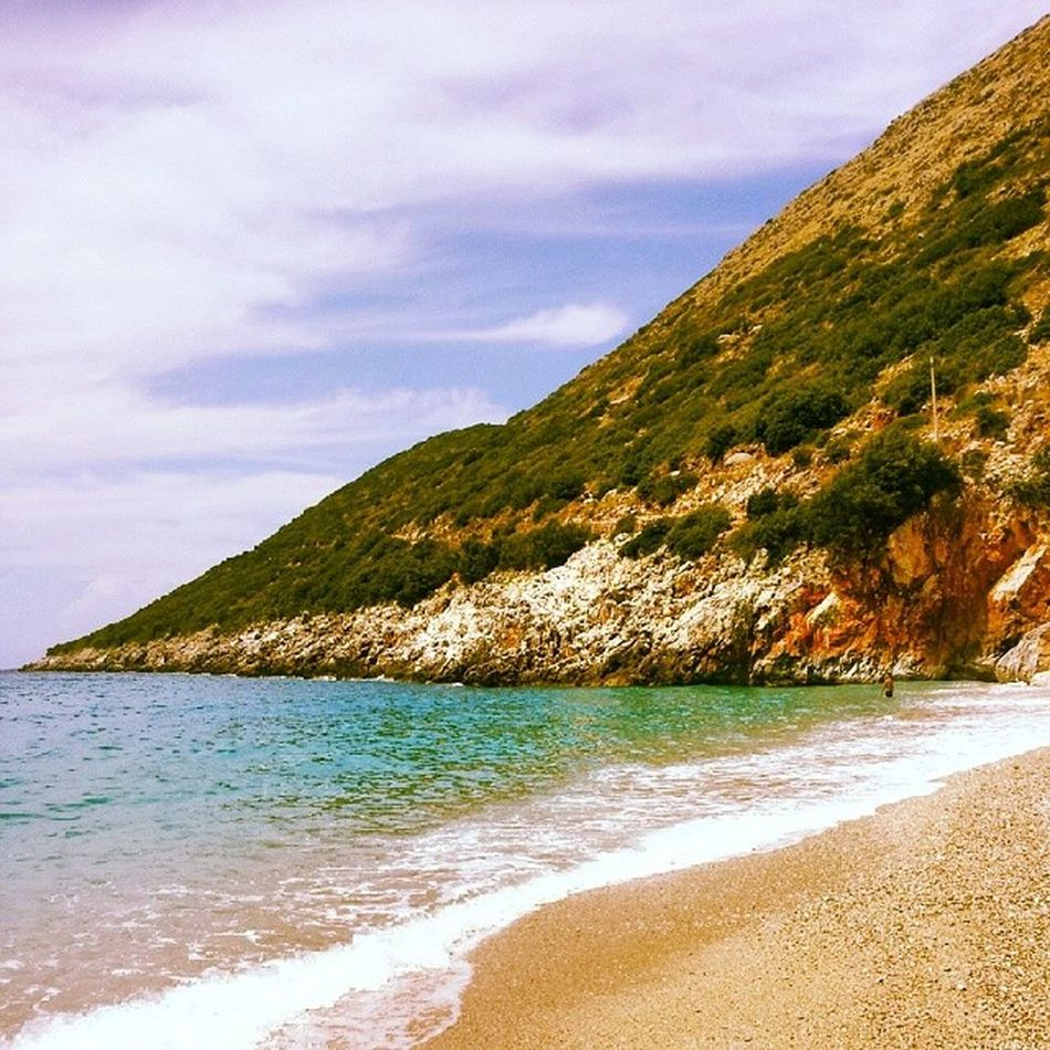 Monastiri Beach, Vuno, Albania Beach Sea Sun Travel Destinations Travel Nature Landscape Land Albania Visitalbania Summer